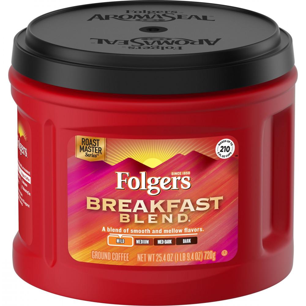 فولجرز بريكفست بليند فاتح Folgers Breakfast Blend Ground Coffee Mild