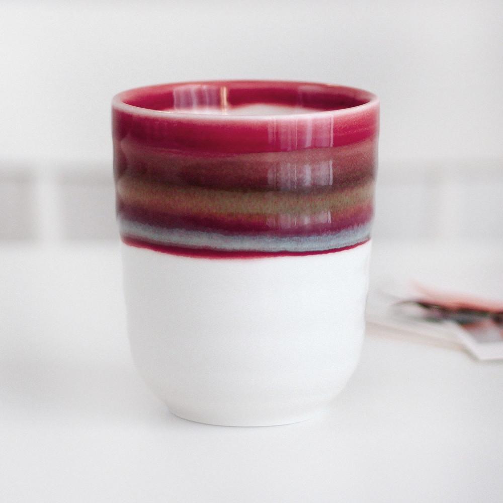 كوب سيراميك خزف كوب قهوة أدوات القهوة المختصة كوب لاتيه بنفسجي متجر