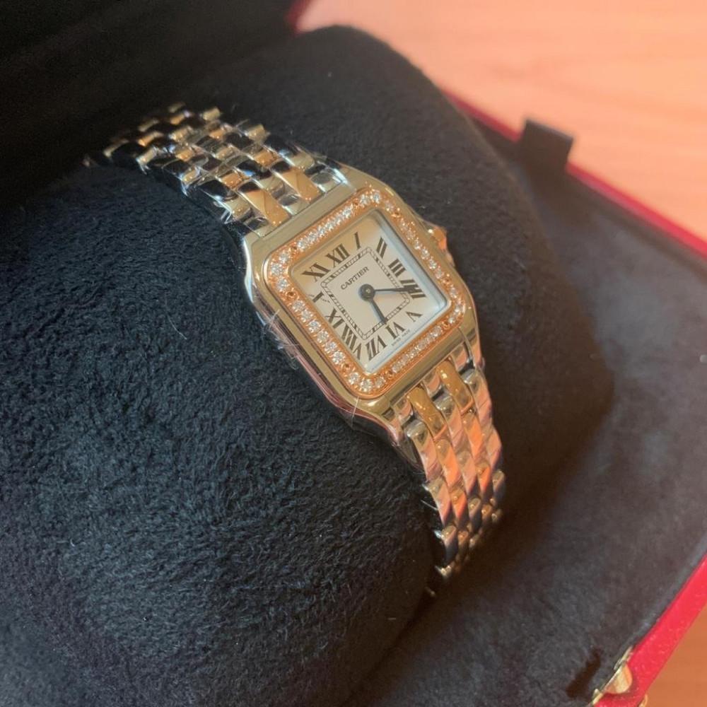ساعة كارتييه بانثر الأصلية الثمينة جديدة كليا