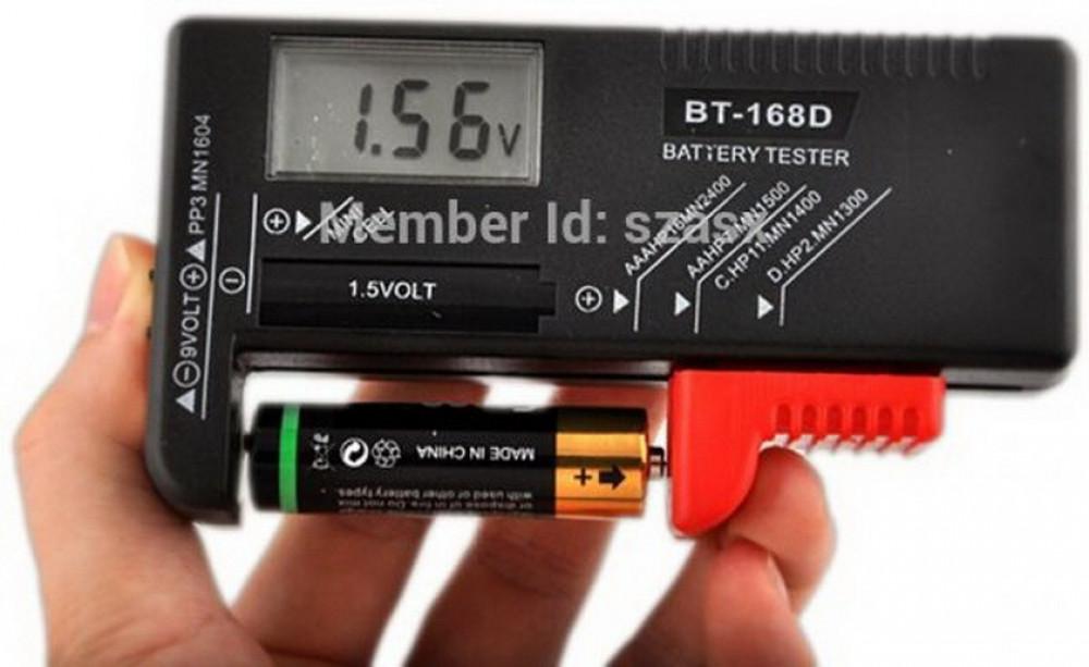 جهاز رقمي قياس مستوى البطاريات من 15 فولت الى 9 فولت بجميع انواعها