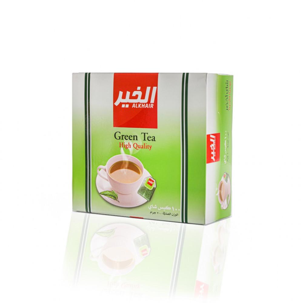 كرتون شاي الخير اخضر 2جم - 100 كيس - 12 بكت