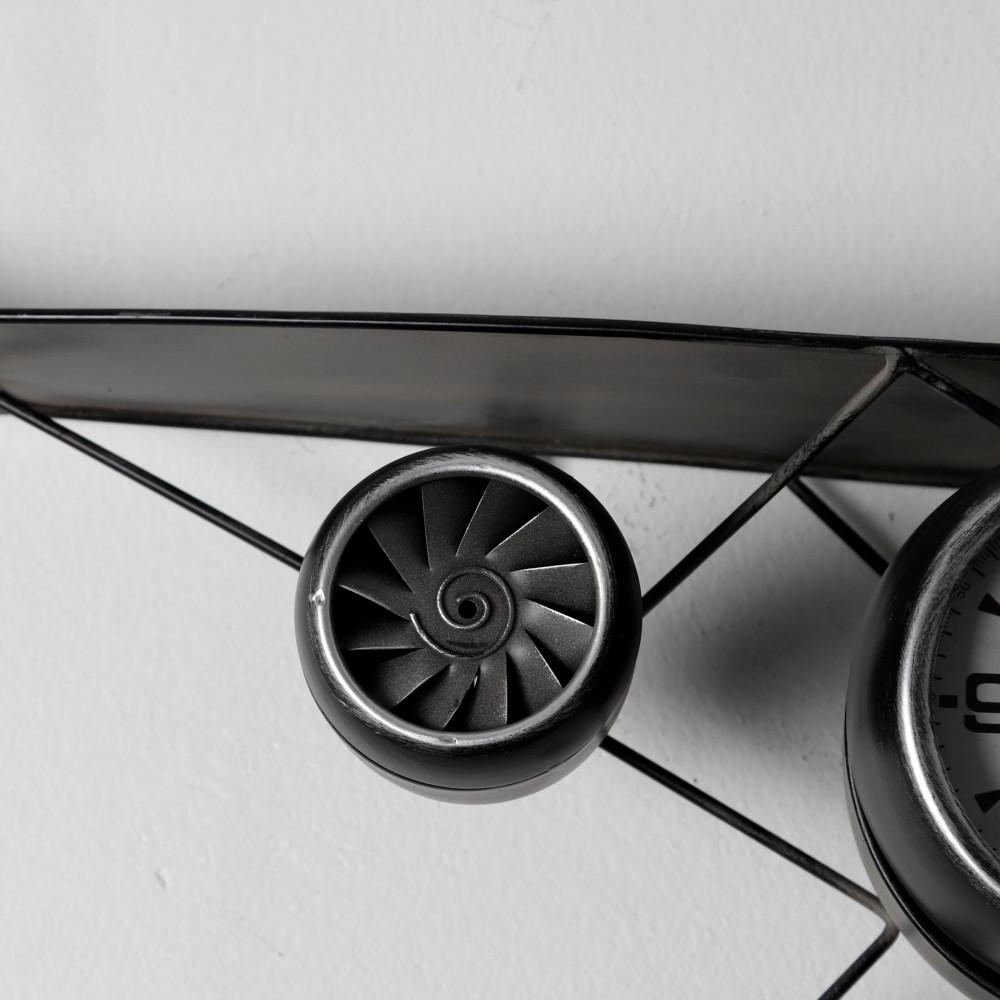 صورة لتفاصيل تصميم ساعة حائط أنتيكة موديل بلان سفن شكل طائرة المعدنية