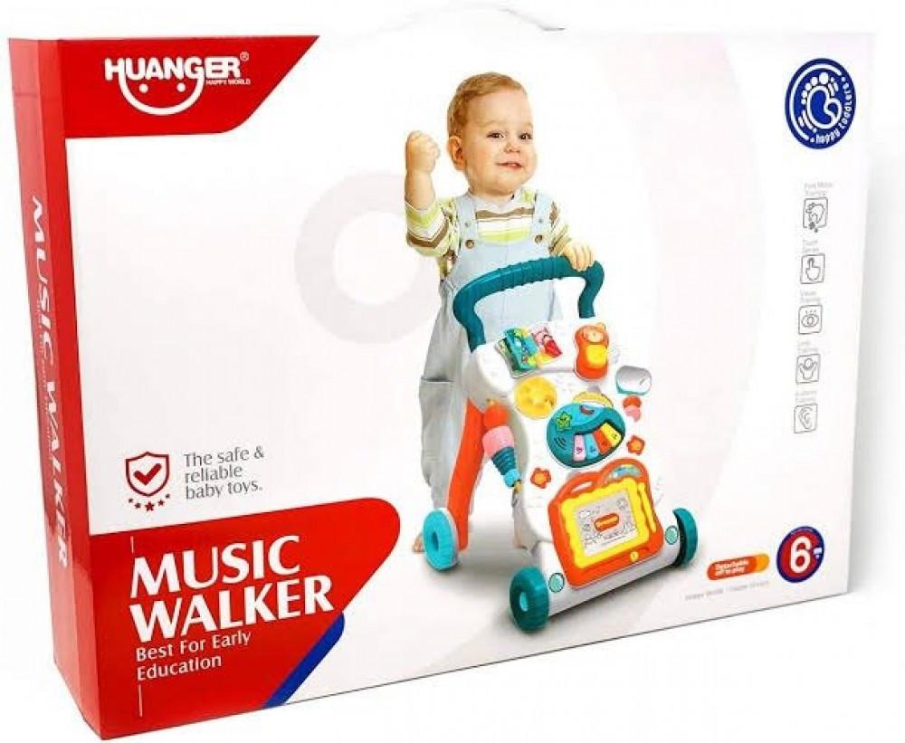 عربة مشي مشاية أطفال موسيقى مشاية بالموسيقى للاطفال