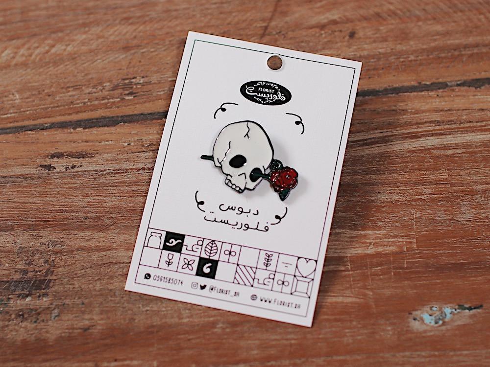 بروش جمجمة ورد مجموعة pins جمجمة