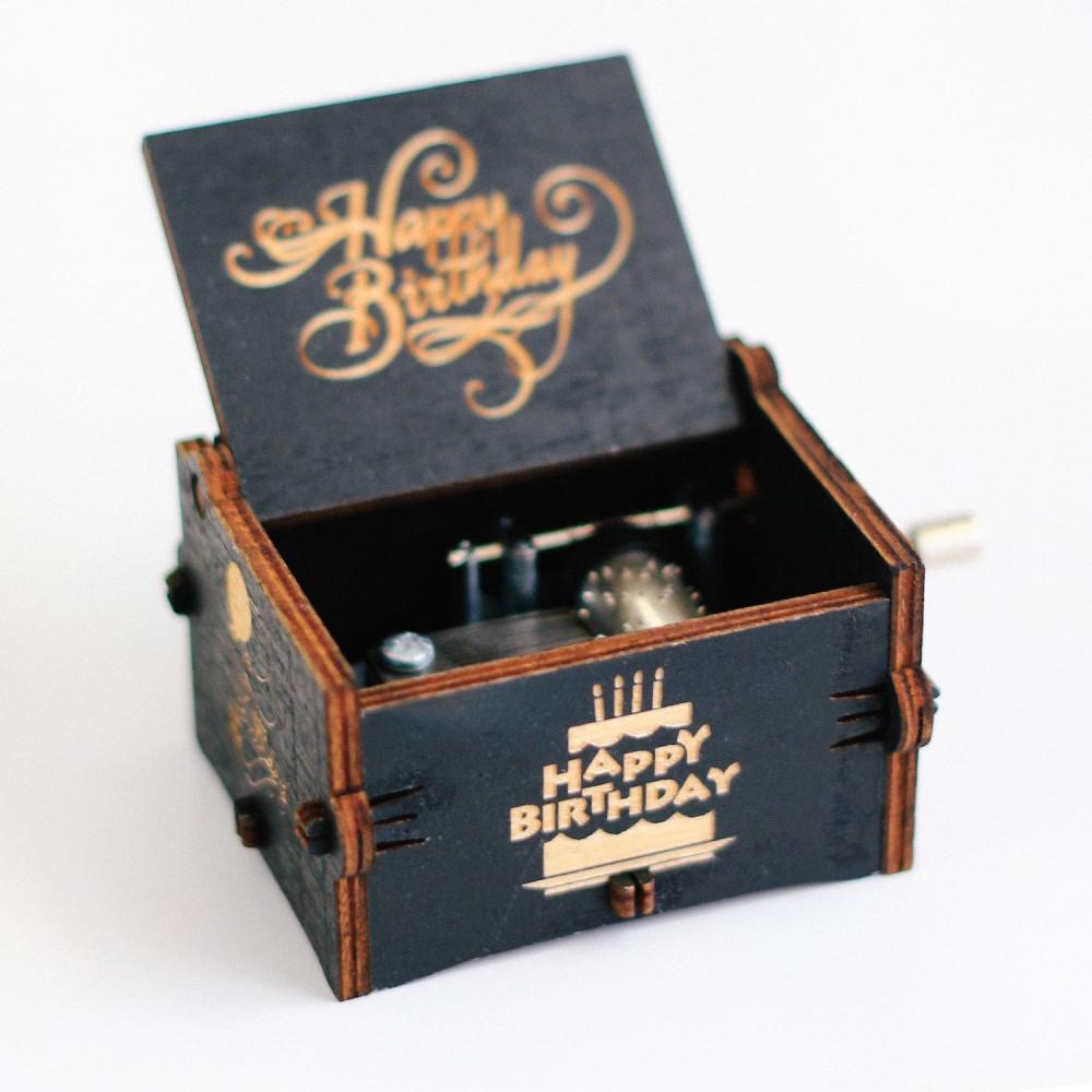 صندوق موسيقى لون أسود Happy Birthday طريقة تشغيل صندوق الموسيقى متجر