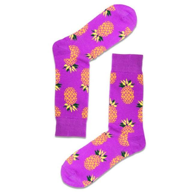 شرابات ملونة - جوارب فواكه - جورب الأناناس البنفسجي -  Apogee socks