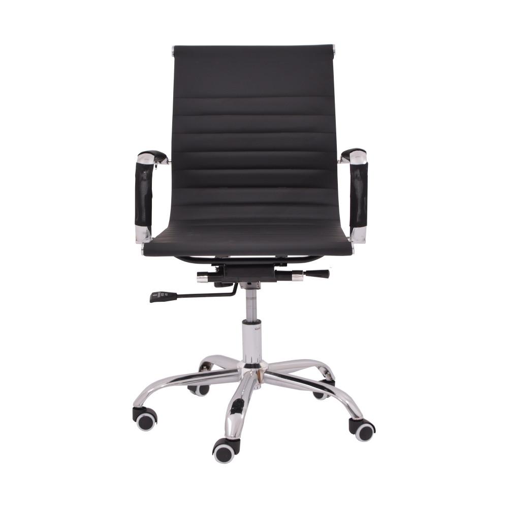 كرسي مكتبي جلد اسود من كاما YA-35 BLACK
