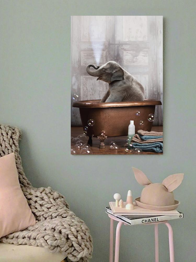 لوحة الفيل الصغير خشب ام دي اف مقاس 40x60 سنتيمتر