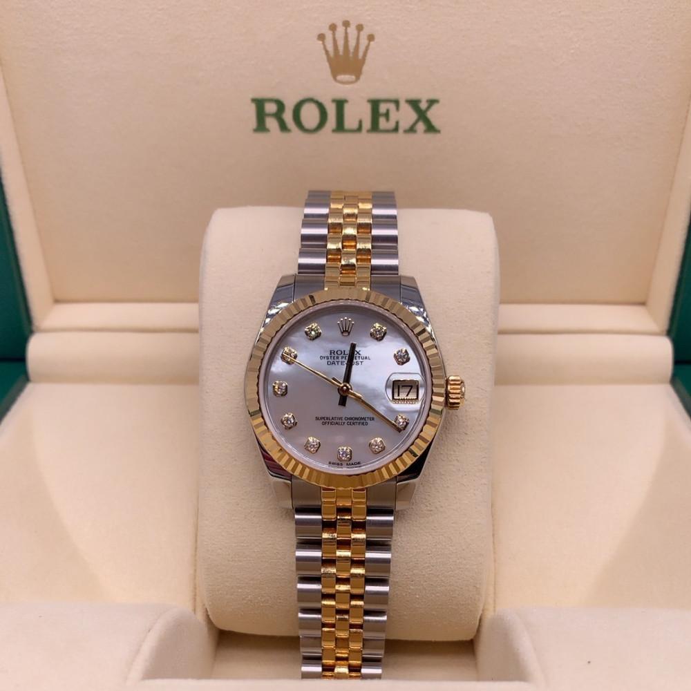 ساعة رولكس ديت جست مستعملة نسائية ثمينة