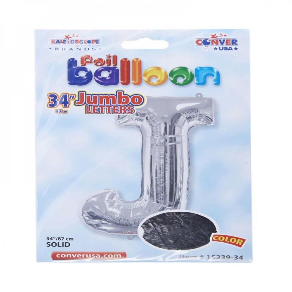 بالون فضي, Silver Balloon, بلونات أحرف, بالون حرف J