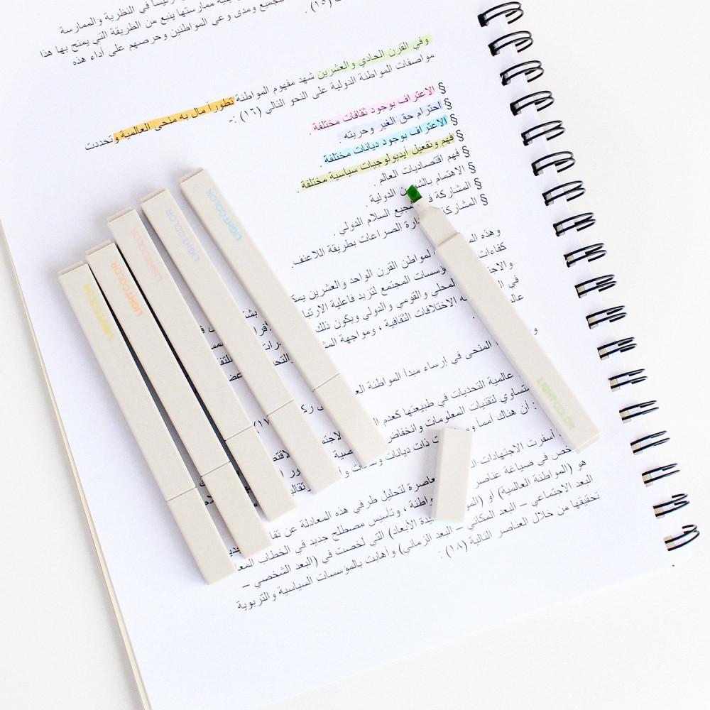 أقلام هايلايتر ملونة أقلام التظهير والماركر طريقة المراجعة والحفظ متجر