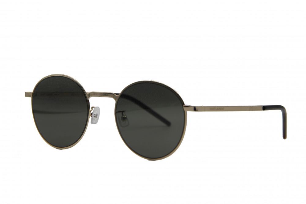 نظاره شمسية دائرية من ماركة SAINIT LAURENT لون العدسة اسود اصلي اصلية
