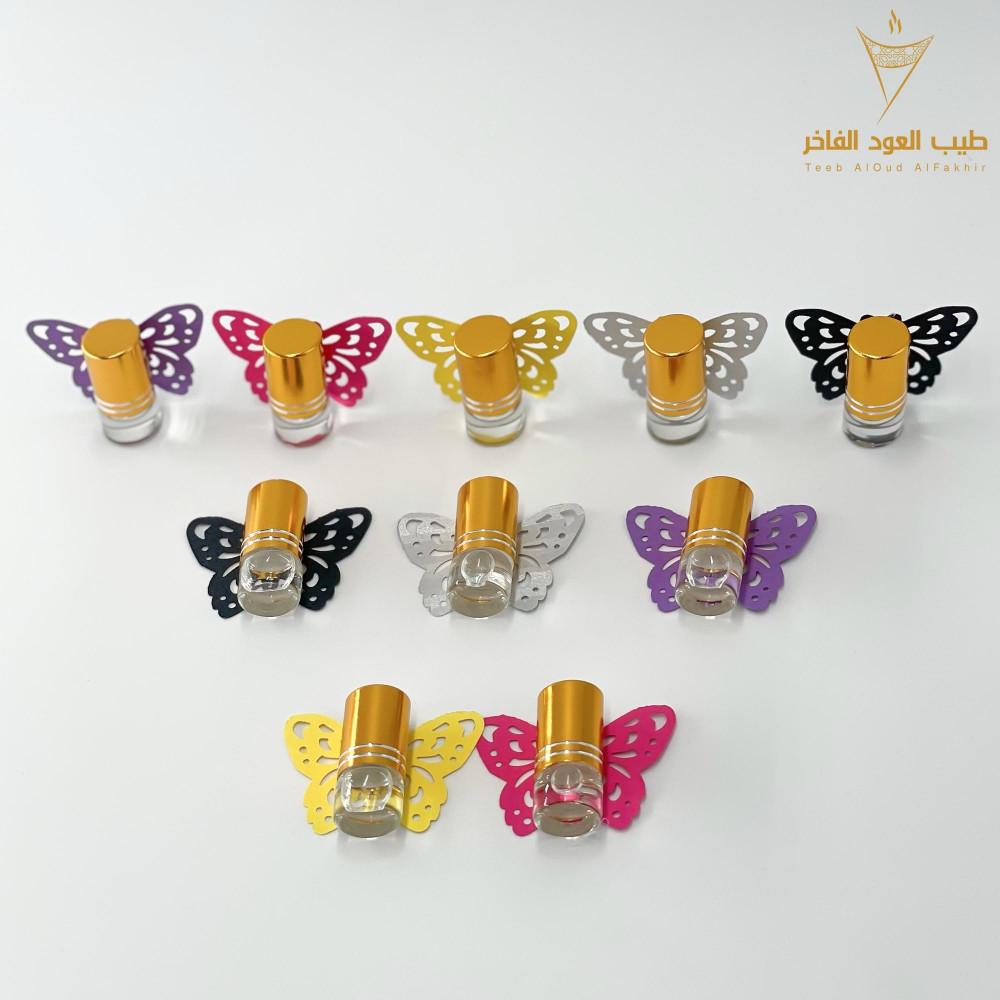 توزيعات الفراشات الملونه