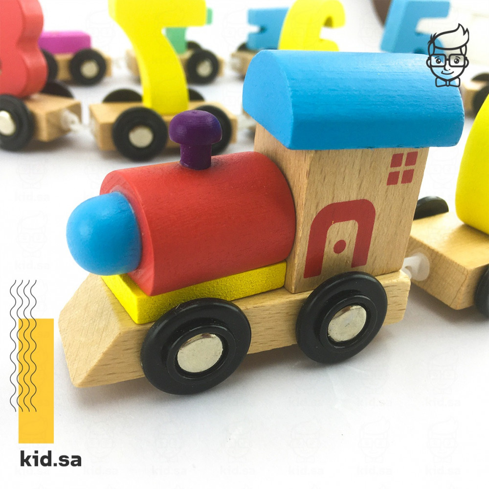 لعبة القطار الخشبي للارقام