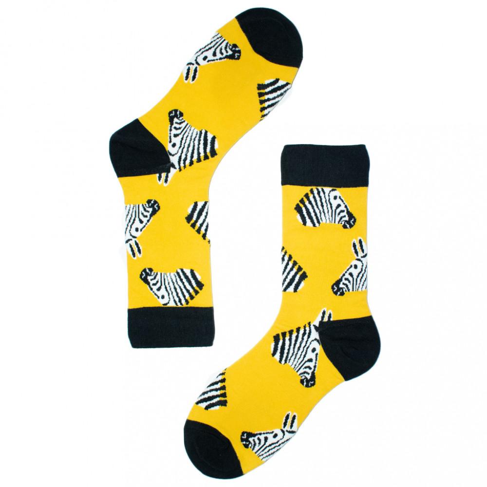 شراريب ملونة - جوارب حيوانات - جورب الحمار الوحشي -   Apogee socks