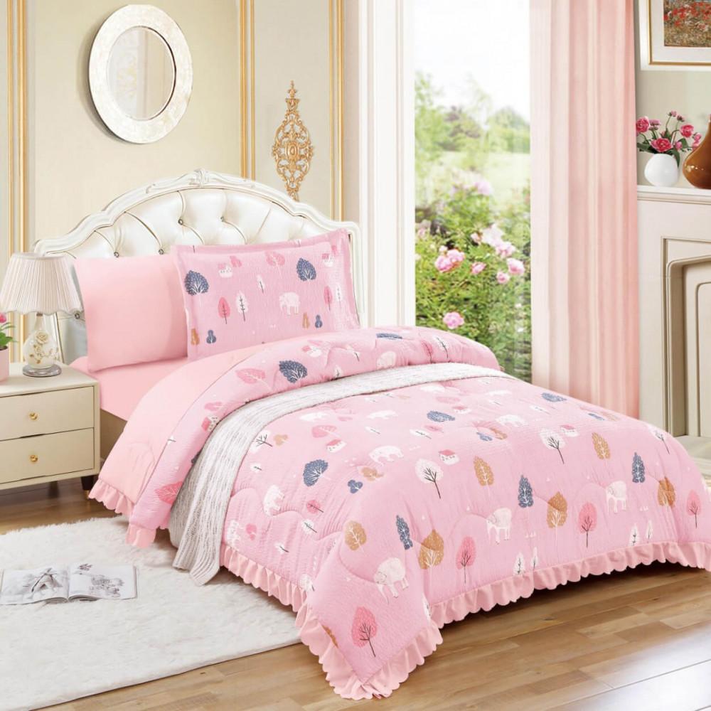 مفرش سرير نفر ونص صيفي - متجر مفارش ميلين