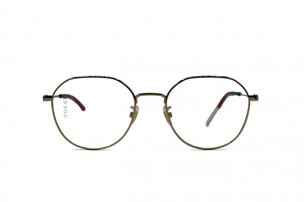 نظارة طبية من ماركة GUCCI بتصميم دائري لون الاطار  ذهبي