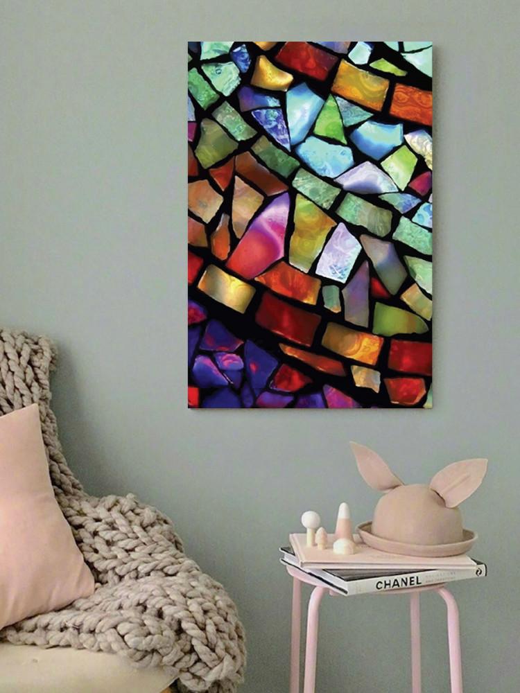 لوحة زجاج بألوان زاهية خشب ام دي اف مقاس 40x60 سنتيمتر
