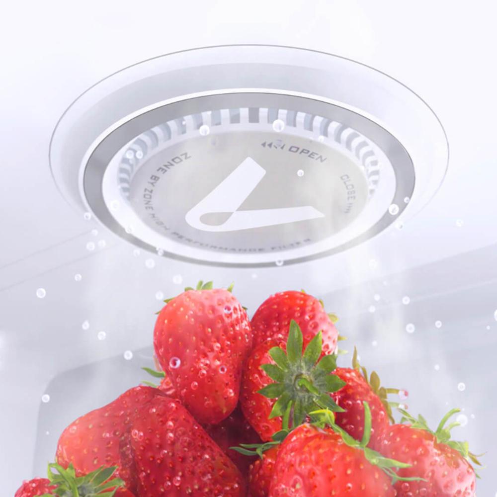 فلتر منقي الهواء داخل الثلاجة لحفظ الأطعمة لوقت اطول