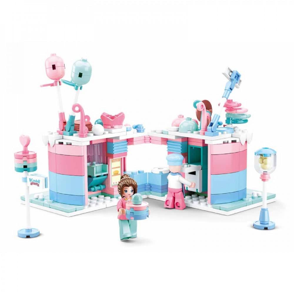 سلوبان, قطع تركيب بلاستيك, زاوية مطعم الحلويات, ألعاب, Toys, Sluban