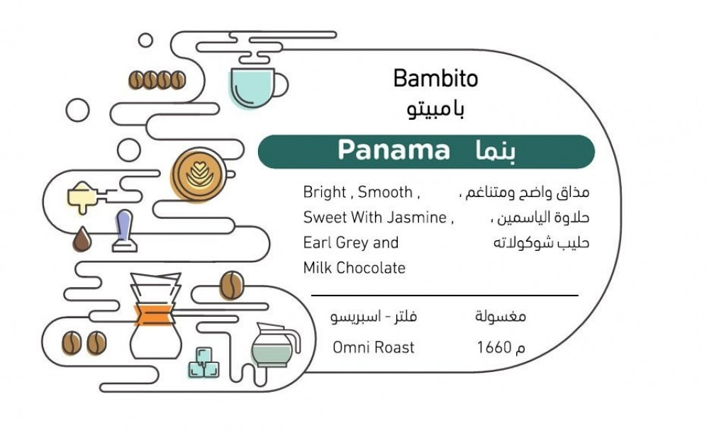 قهوة مختصة بامبيتو من دولة بنما معالجة بالطريقة المغسولة