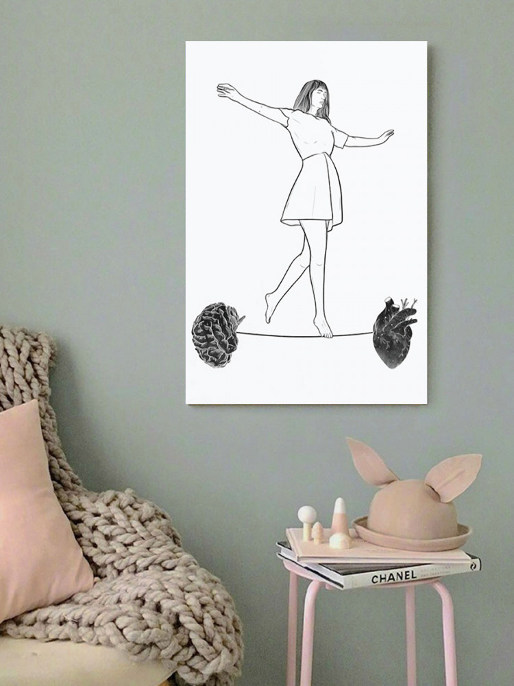 لوحة التوازن القلب و العقل خشب ام دي اف مقاس 40x60 سنتيمتر