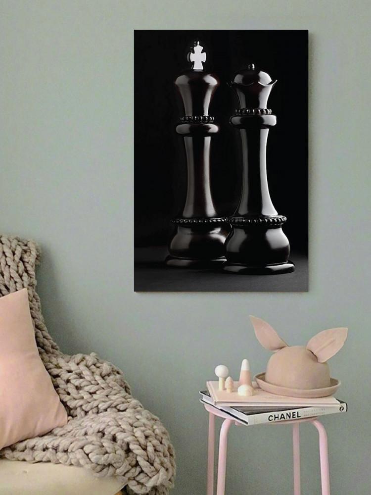 لوحة أحجار الشطرنج خشب ام دي اف مقاس 40x60 سنتيمتر