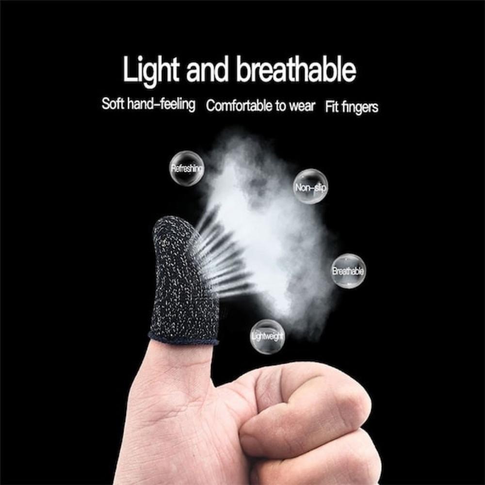 غطاء إصبع للتحكم بالألعاب - مقاوم للتعرق -بتصميم مقاوم للتنفس
