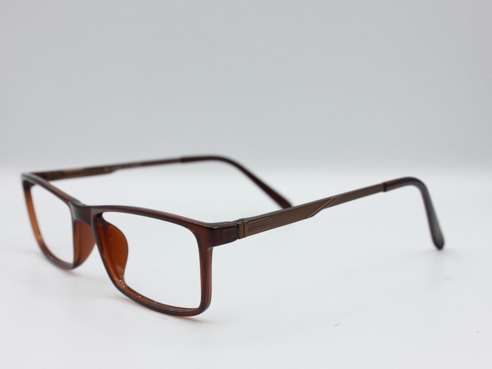 نظارة طبية من ماركة T مستطيلة الشكل مع عدسات بحماية بنيه للجنسين