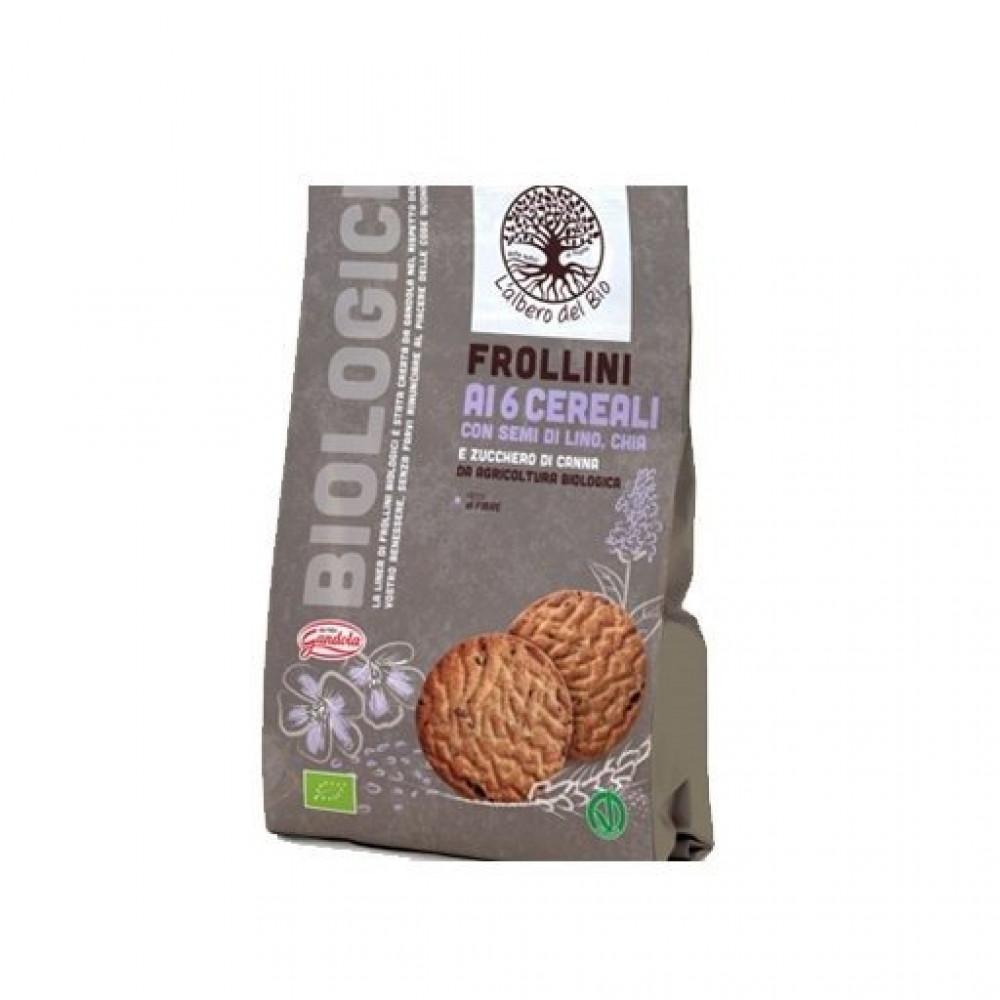 بسكويت الحبوب العضوية مع بذور الكتان و الشيا