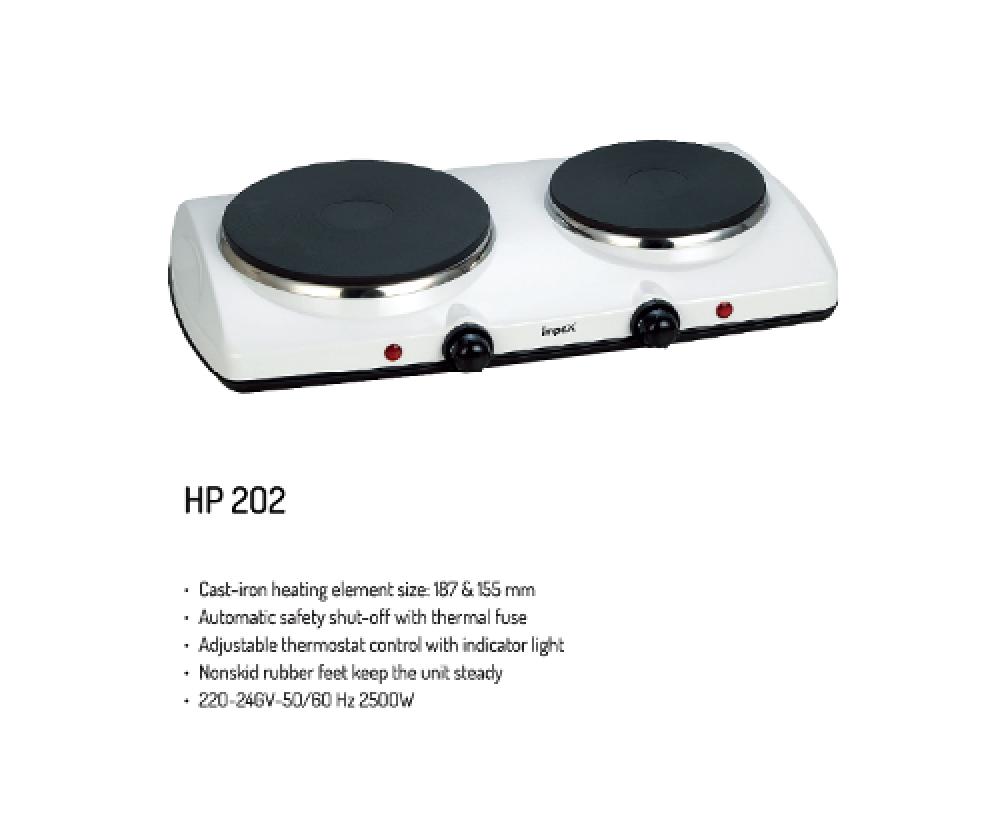 سخان حجر امبكس 2 عين Impex Electric Hot Plate Double HP 202