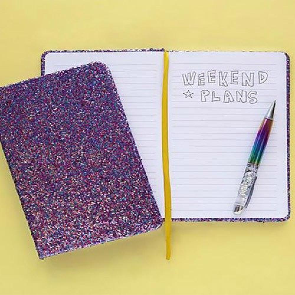 نوتة ملونة تأتي بصفحات مسطرة وبغلاف ترتر للدراسة وكهدية مميزة