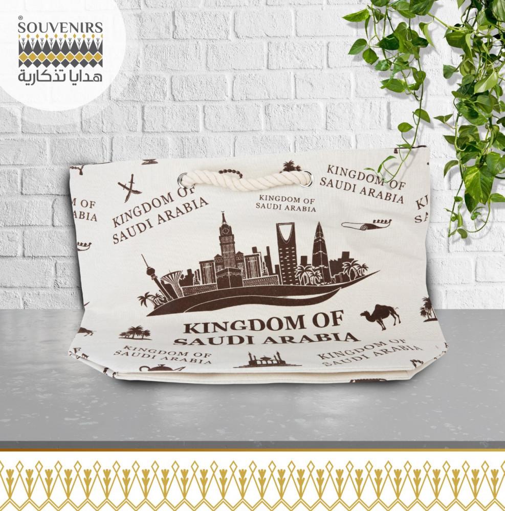 حقيبه قماش معالم المملكة