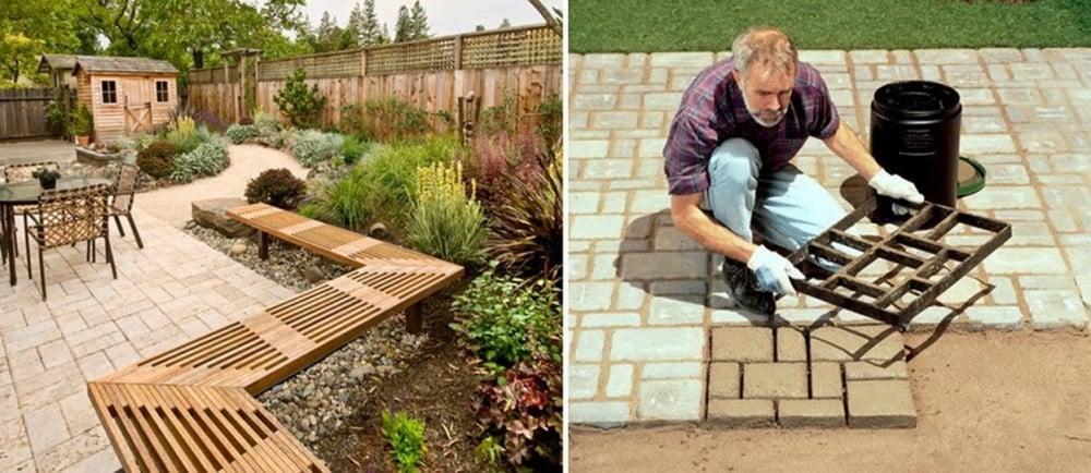قالب متكرر الاستعمال لعمل قوالب اسمنتية لممرات الحدائق والارصفة