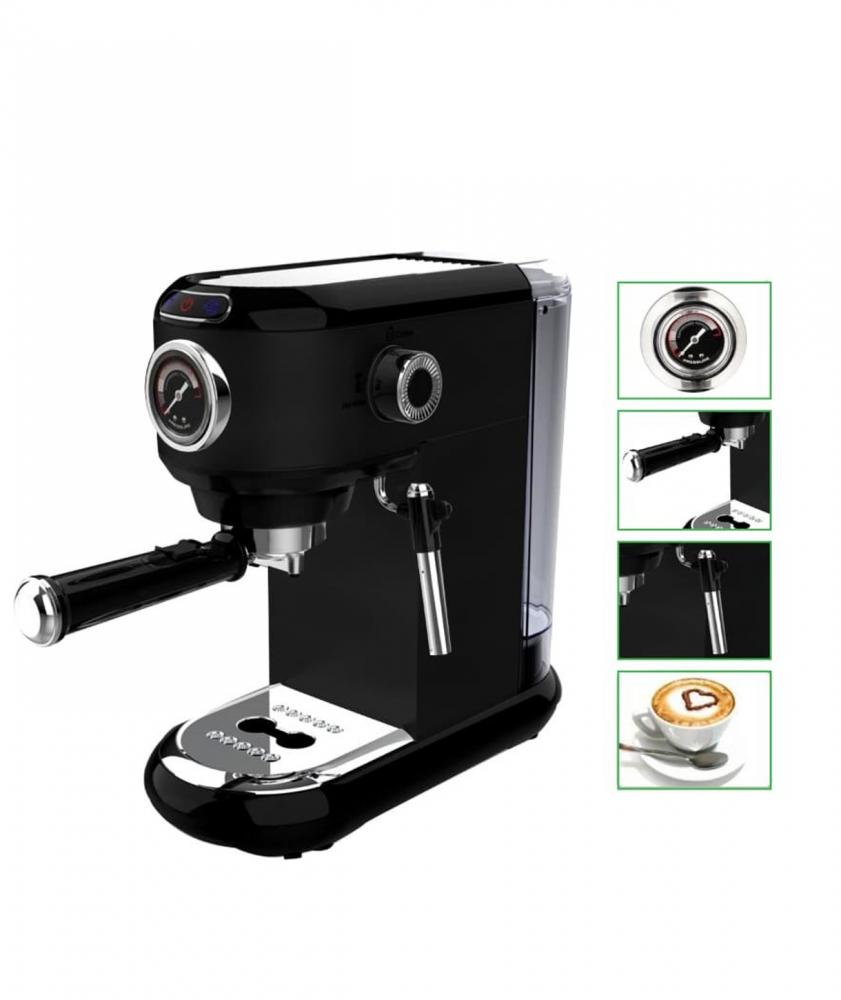 بياك ماكينة قهوة الاسبريسو لون اسود مكائن القهوة
