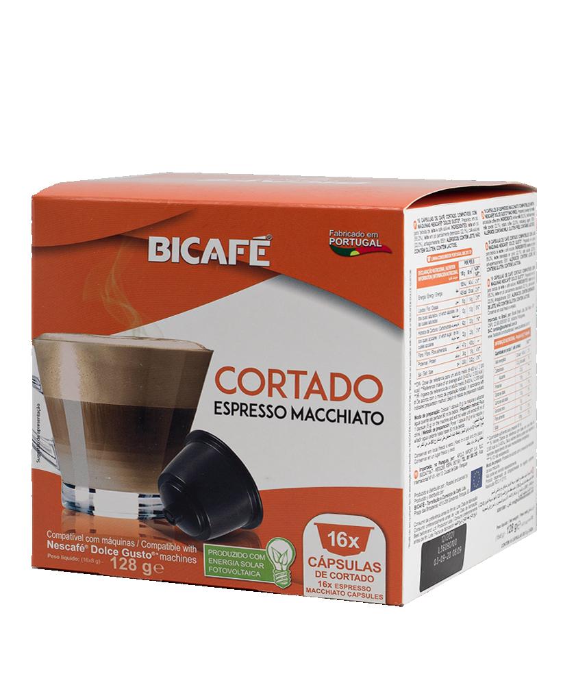 بياك بيكاف كورتادو كبسولات القهوة