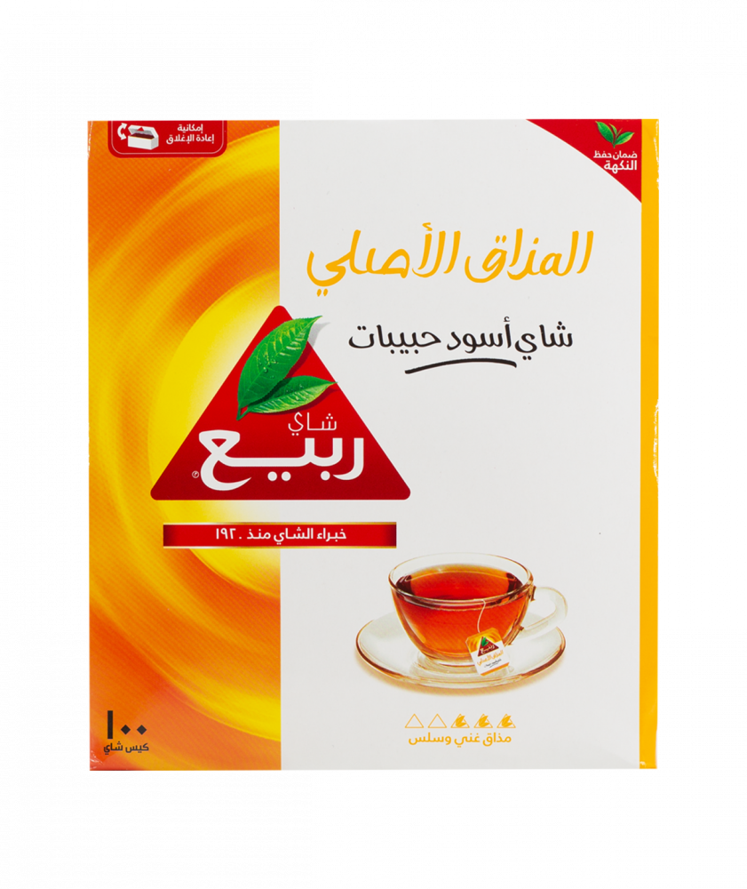 بياك ربيع شاي المذاق الاصلي 100 كيس شاي