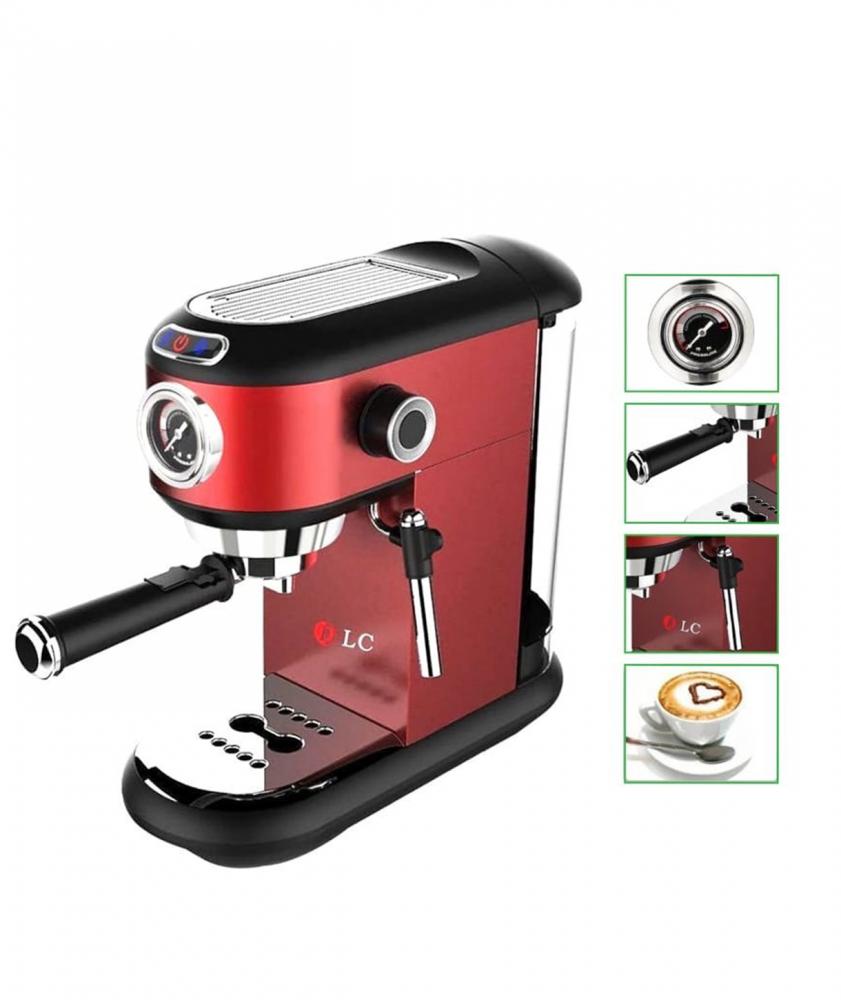 بياك دي ال سي ماكينة قهوة الاسبريسو لون احمر مكائن القهوة