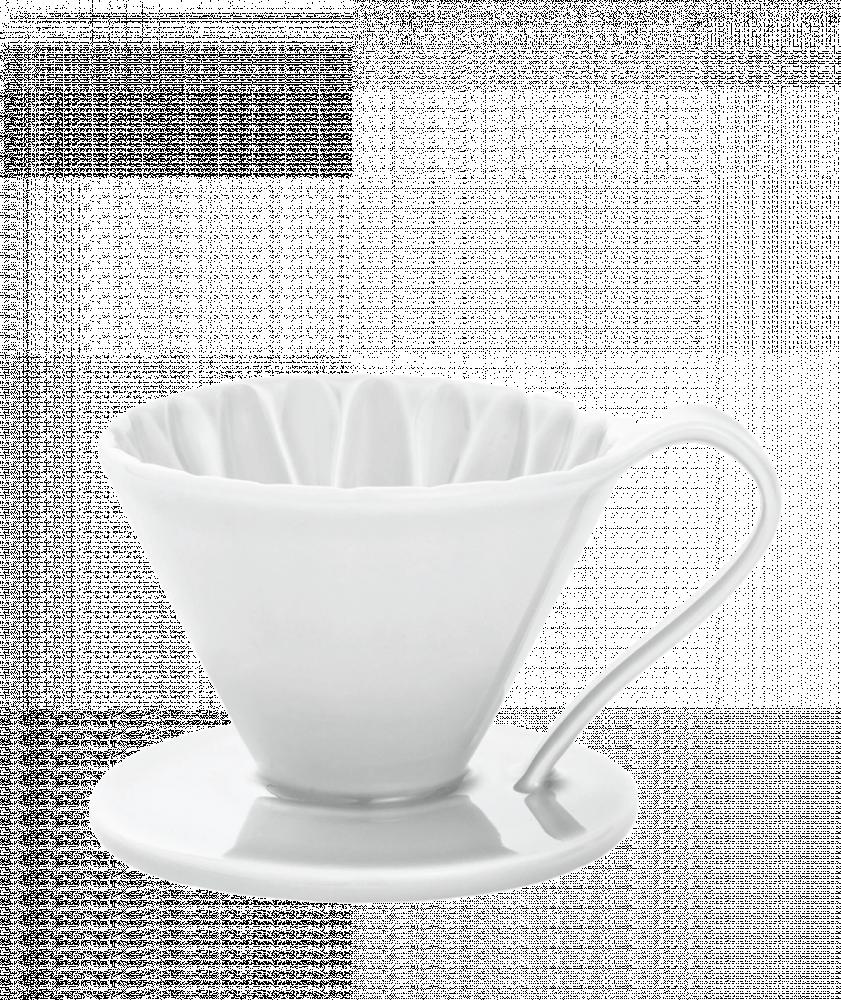 بياك كافيك قمع ترشيح ابيض 02 ادوات و مكائن القهوة