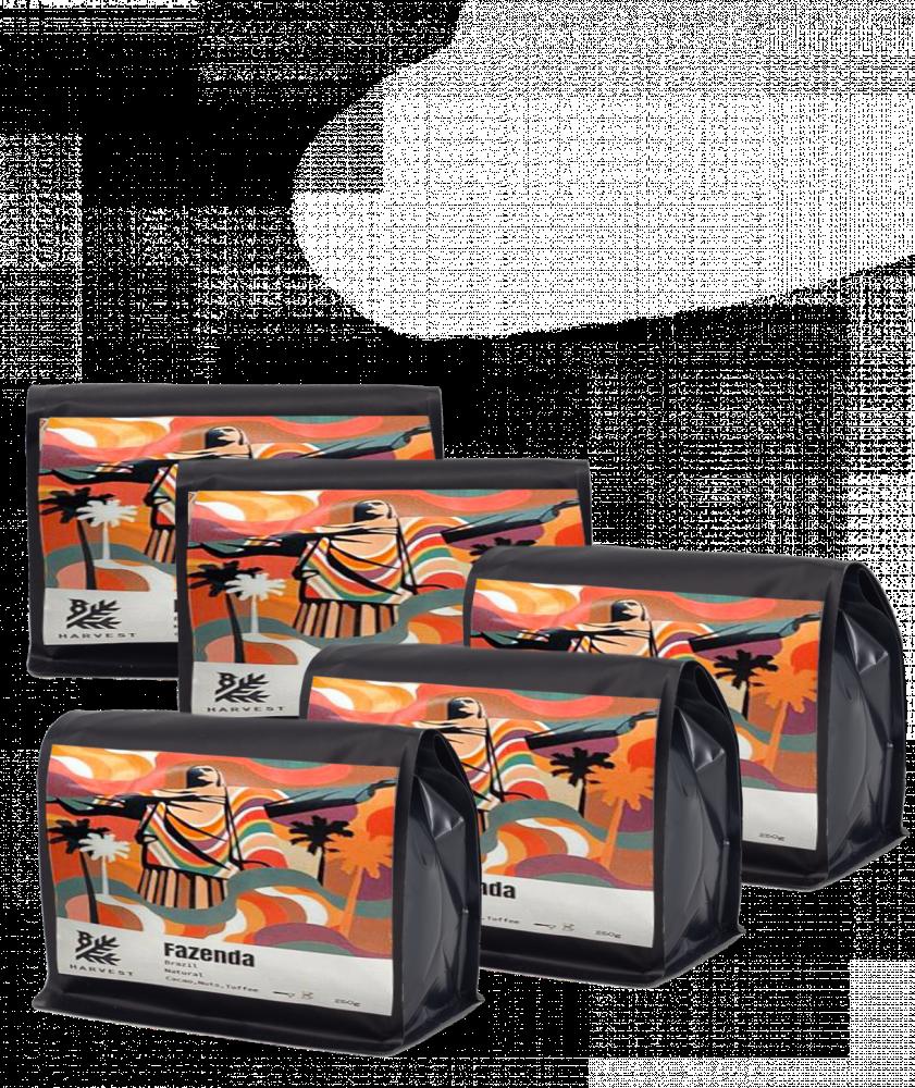 مجموعة هارفست البرازيل فازيندا قهوة مختصة فلتر اسبريسو