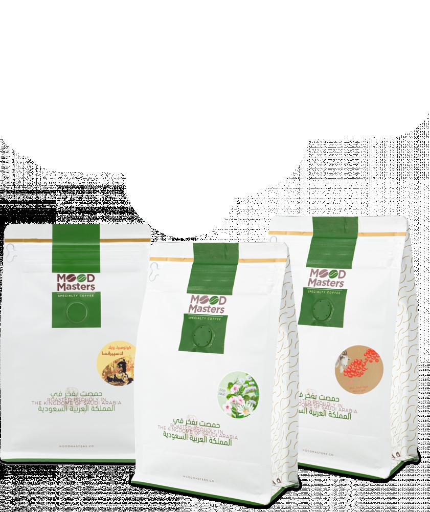 بياك مجموعة القهوة المختصة 5 المجموعات