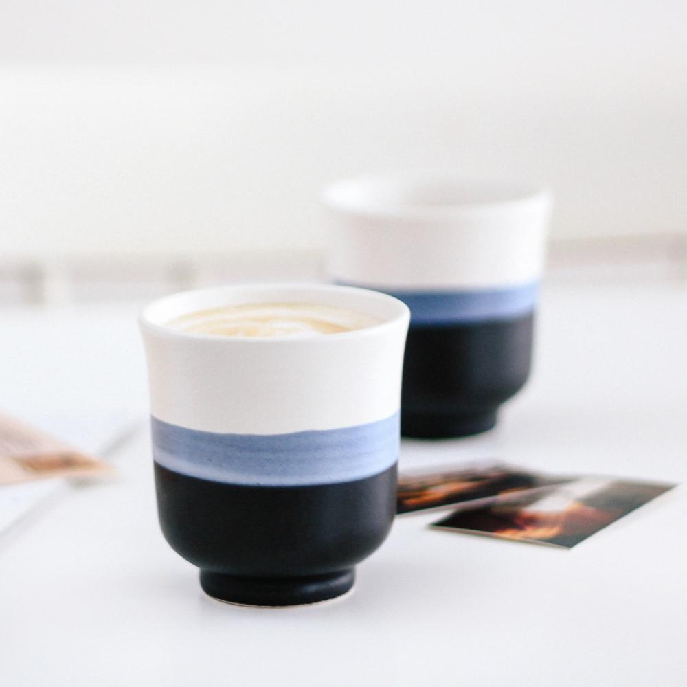 كوب خزف كوب قهوة كوب لاتيه أفكار هدايا شغل يدوي أدوات القهوة المختصة