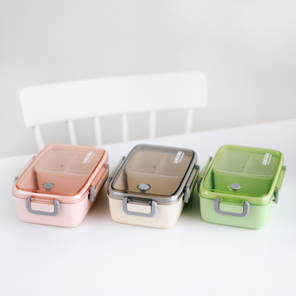 صندوق غداء بنتو لانش بوكس قابل للتسخين بالميكرويف وجبات مانع للتسريب