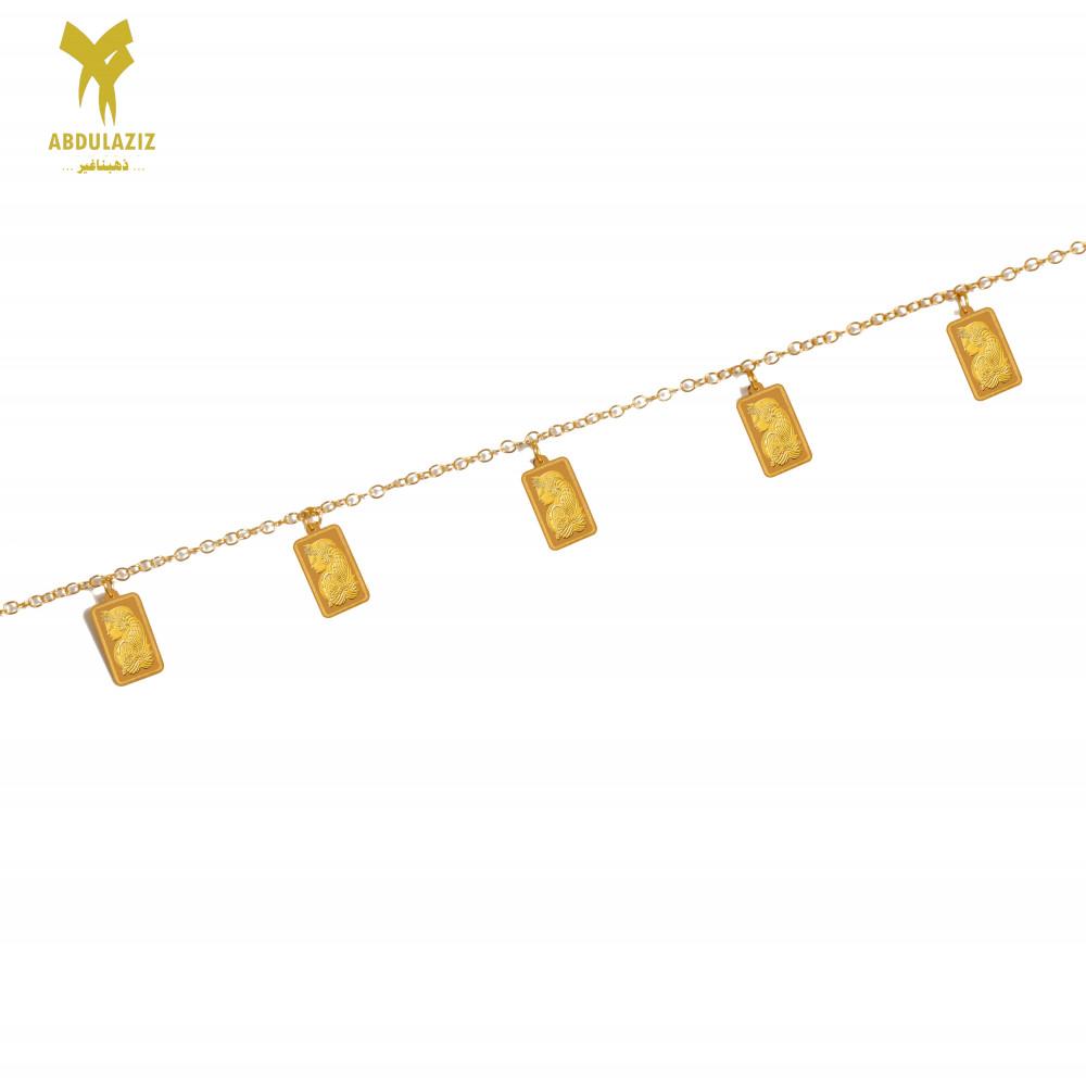 إسوارة سبيكة ذهب عيار 21 gold bracelet