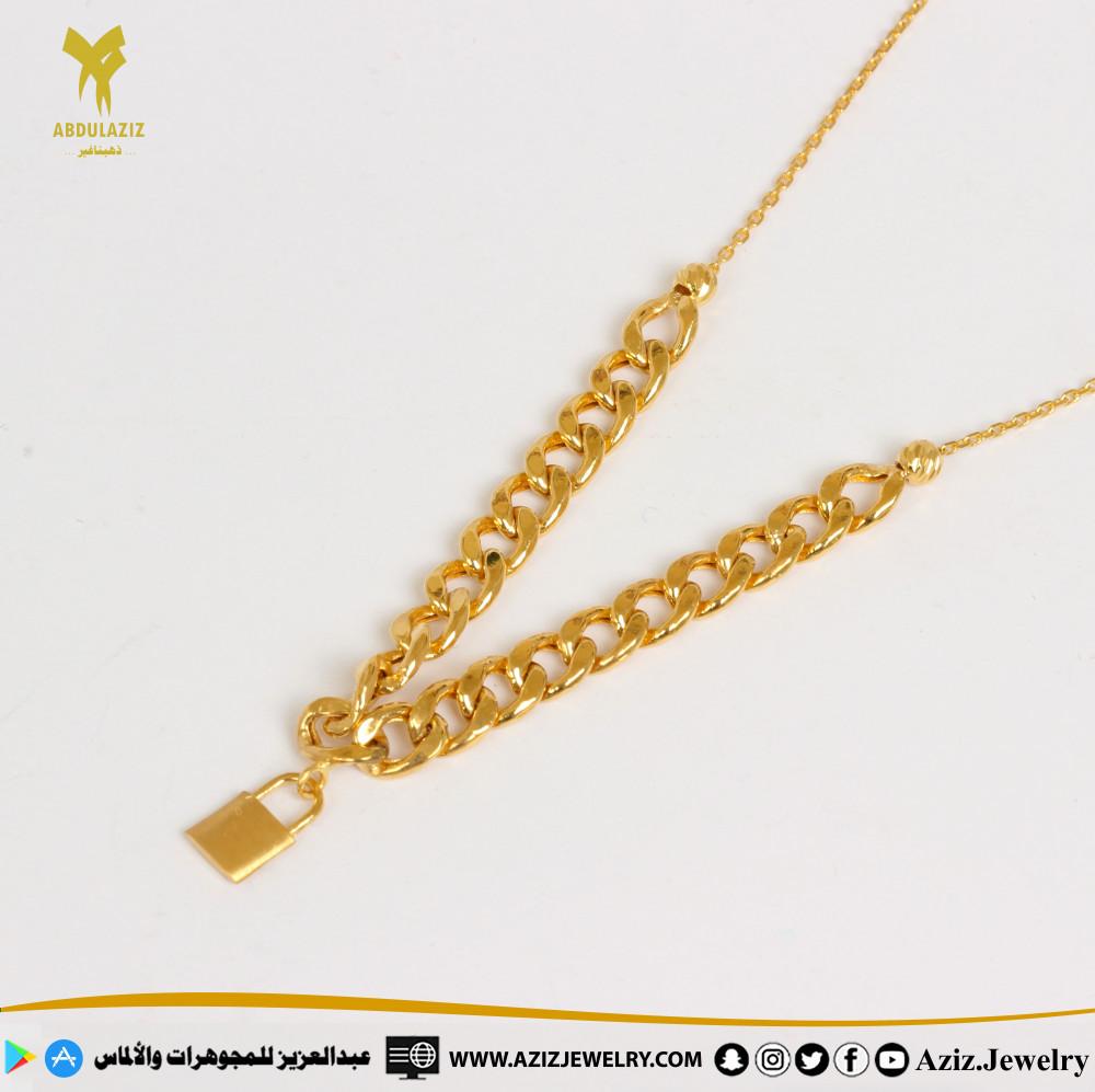 عقد جنزير ذهب gold chain necklace