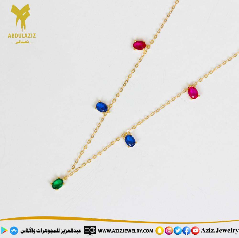 عقد شوكر ذهب gold choker necklace