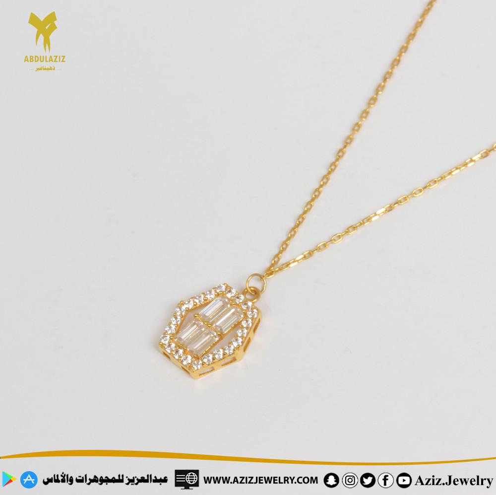 عقد ذهب ناعم soft gold necklace