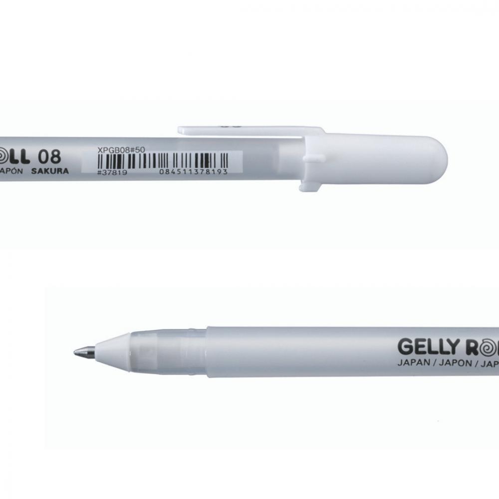 قلم جيلي رول ابيض