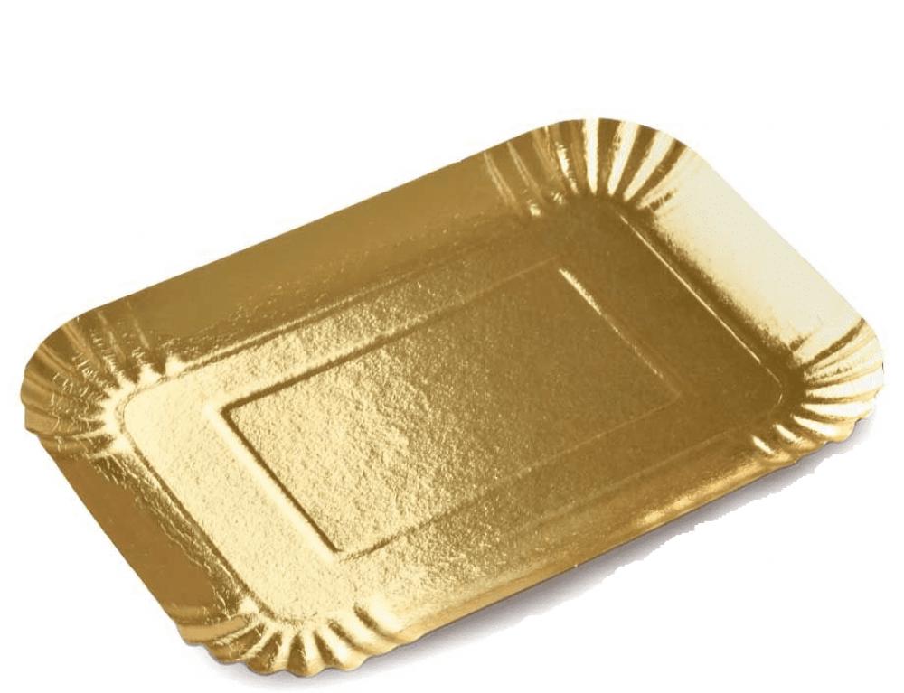 صحون ورق ذهبي