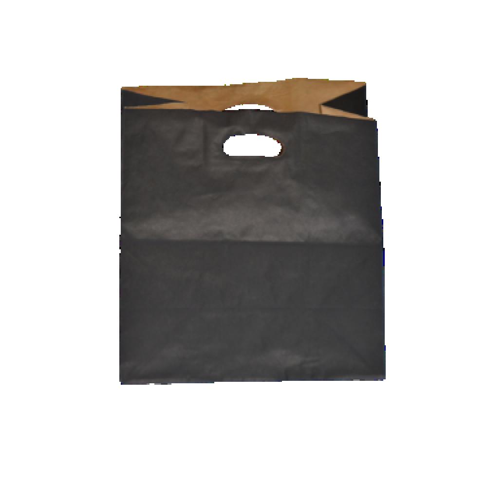 اكياس ورق اسود بمسكة يد داخل الكيس